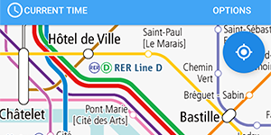 The railway map of France on our app 'World Transit Maps'